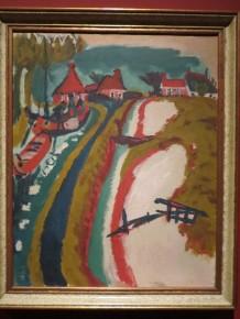 Groninger landschap met kanaal, Jan Wiegers, 1923
