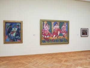 Twee werken van Kirchner en een schilderij van Paula Modersohn Becker