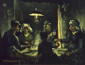 Aardappeleters, 1885, foto van de website