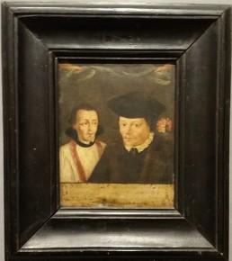 David Leenderts en pastoor Eylard Dirksz van Waterland (1530- 1573) Onbekend kunstenaar, 17e eeuw
