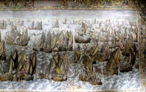 Slag voor Lillo, tapijt gemaakt tussen 1597 / 98