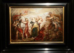 De Verzoening tussen de Romeinen en de Sabijnen, Justus van Egmont (1602-1672)