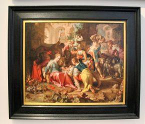 Aanbidding van de herder,' Joachim Wtewael, 1598)