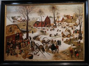 Volkstelling in Bethlehem, Pieter II Brueghel, naar Pieter I Bruegel