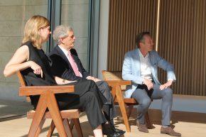 Het Management Team van Voorlinden: Suzanne Swartse, Joop van Caldenborgh en Wim Pijbes