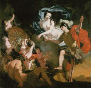 Venus schenkt haar wapens aan Aeneas, Gerard de Lairesse, 1668 foto van de website van het museum