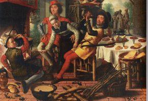 Boerengezelschap bij de haard, Pieter Aertsen, 1556, foto van de website van het museum