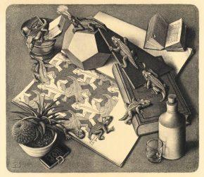 Reptielen, litho, 1943