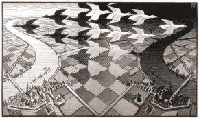 Dag en Nacht, houtsnede, 1938
