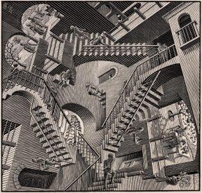 Relativiteit, houtsnede, 1953