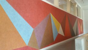 Wall Drawing, 1985, Sol Lewitt, her-uitgevoerd na de verbouwing in 2016