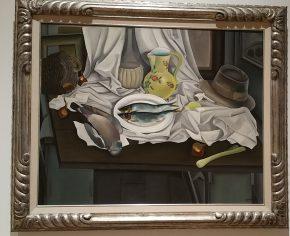 Stilleven met kan, hoed en vis, Ger Langeweg, 1937