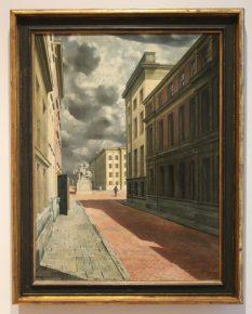 Straat met standbeeld, Carel Willink, 1934