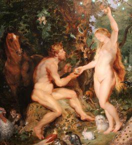 Detail uit Het aardse paradijs met de zondeval van Adam en Eva, Jan Brueghel I en Pieter Paul Rubens, ca 1615